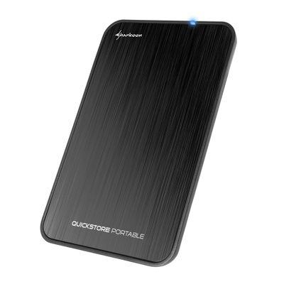 Sharkoon QuickStore Portable USB 3.1 HDD-/SSD-behuizing Zwart 2.5