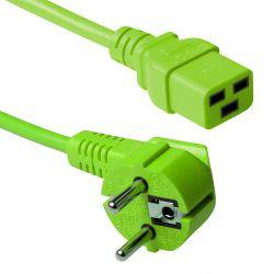ACT AK5177 electriciteitssnoer Groen 1,8 m CEE7/7 C19 stekker