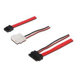 ASSMANN Electronic SATA - SATA+4pin, 0.5m SATA-kabel 0,5 m SATA 13-pin SATA 22-pin + Molex (4-pin) Zwart, Rood, Wit