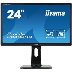 "iiyama ProLite B2482HD-B1 24"" Full HD TN Mat Zwart Flat computer monitor LED display"