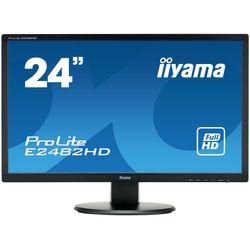 "iiyama ProLite E2482HD-B1 24"" Full HD TN Mat Zwart Flat computer monitor LED display"