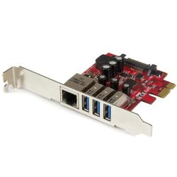 StarTech.com 3-poorts PCI Express USB 3.0-kaart + gigabit