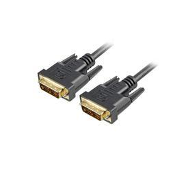 Sharkoon DVI-D/DVI-D (18+1), 1m DVI kabel Zwart