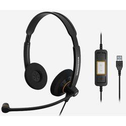 Sennheiser SC 60 USB ML Stereofonisch Hoofdband Zwart