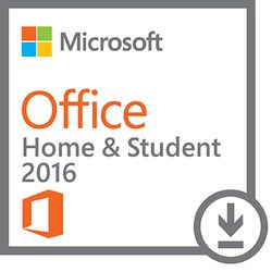 Microsoft Office Home & Student 2016. Licentietype: Volledig. Taalversie: Meertalig, Softwaretype: Electronic Software Download