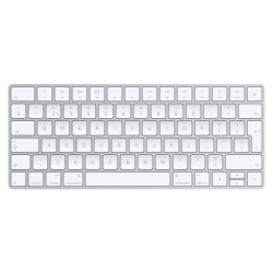Apple MLA22 Bluetooth QWERTY Nederlands Zilver, Wit