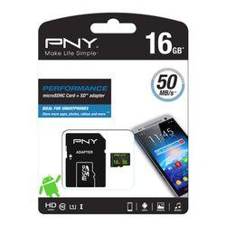 PNY Performance flashgeheugen 16 GB MicroSDHC Klasse 10 UHS-I