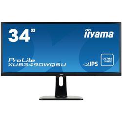 """iiyama ProLite XUB3490WQSU-B1 34"""" Wide Quad HD AH-IPS Mat Zwart Flat computer monitor LED display"""