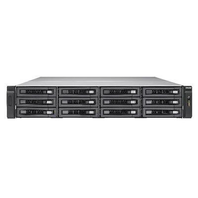 QNAP TVS-EC1280U-SAS-RP Ethernet LAN Rack (2U) Zwart NAS