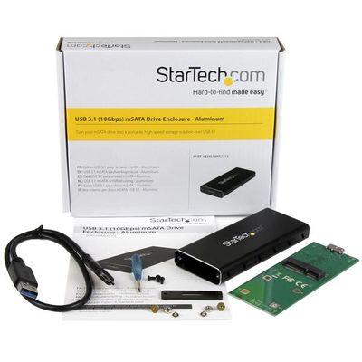 StarTech.com USB 3.1 (10Gbps) mSATA schijf behuizing aluminium