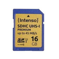 Intenso 16GB SDHC 16GB SDHC UHS Klasse 10 flashgeheugen