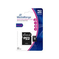 MediaRange 4GB microSDHC 4GB MicroSDHC Klasse 10