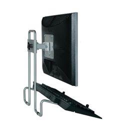 R-Go Tools Steel Flex Monitorstandaard, verstelbaar, zilver