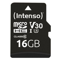 Intenso Professional 16 GB microSDHC-kaart Class 10, UHS-I incl. SD-adapter
