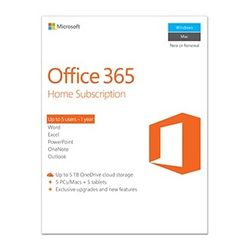Microsoft Office 365 Home English Subscr 1 jaar-6GQ-00684