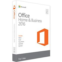 Microsoft Office Mac Home & Business 2016, NL 1gebruiker(s) Nederlands-W6F-00877