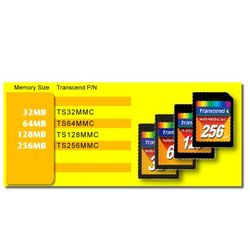 Transcend 128MB MULTIMEDIA CARD 0.125GB MMC flashgeheugen