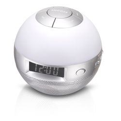 Lenco Wellness clock radio CRW-1 Klok Analoog Zilver radio