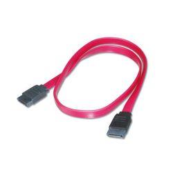 Digitus AK-400100-005-R 0.5m SATA 7-pin SATA 7-pin Zwart, Rood SATA-kabel