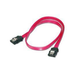 ASSMANN Electronic 2x SATA 7-pin, 0.75 m SATA-kabel 0,75 m Zwart, Rood