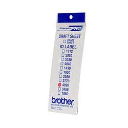 Brother ID4090 printeretiket Wit