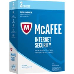 McAfee Internet Security 2017 Base license 3gebruiker(s) 1jaar Nederlands