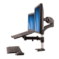 StarTech.com Monitor arm met laptop standaard- One-Touch