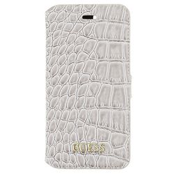 Guess Croco Book Case Shiny Beige iPhone 7