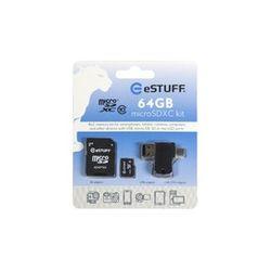 eSTUFF 64GB Micro SD 64GB MicroSD Klasse 10 flashgeheugen