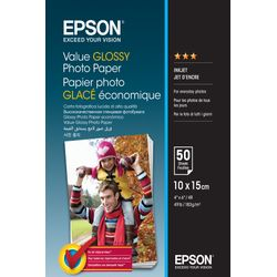 Epson Value Glossy Photo Paper - 10x15cm - 50 sheets Glans