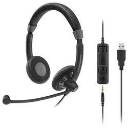 Sennheiser SC 75 USB MS Stereofonisch Hoofdband Zwart