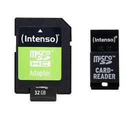 Intenso 32 GB microSDHC-kaart Class 10 incl. SD-adapter, incl. USB-kaartlezer