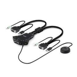 Belkin F1DN102V-3EA KVM-switch Zwart