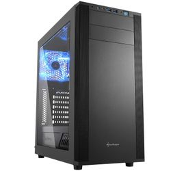 Sharkoon M25-W Midi-Toren Zwart computerbehuizing